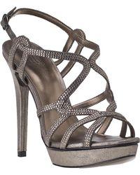 Pelle Moda - Flirt Evening Sandal Pewter Leather - Lyst