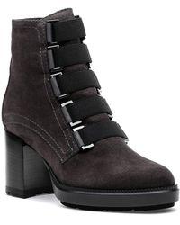 Aquatalia - Indira Boot Grey Suede - Lyst