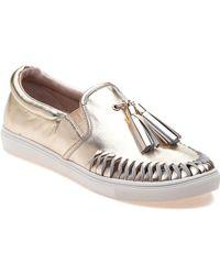 J/Slides - Cheyenne Platino Leather Slip On - Lyst
