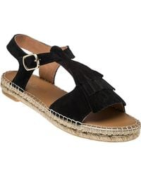 275 Central - Mohican Black Suede Espadrille Sandal - Lyst