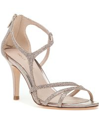 Pelle Moda - Ruby Evening Sandal Platinum Gold Glitter - Lyst