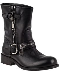 275 Central - 1887 Biker Boot Black Leather - Lyst