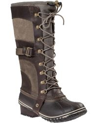 Sorel - Conquest Carly Snow Boot Brown - Lyst