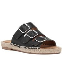 275 Central - Macao-b Espadrille Sandal Black Leather - Lyst