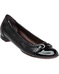 Attilio Giusti Leombruni - D558034 Ballet Flat Black Leather - Lyst