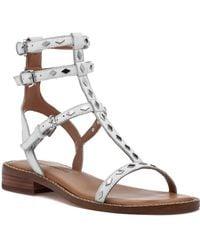 19559c7997d0 Rebecca Minkoff - Arella Sandal White Leather - Lyst