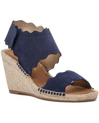 275 Central - Queca-ss Espadrille Wedge Navy Suede - Lyst
