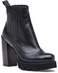 275 Central | 4224 Black Leather Boot | Lyst