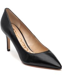 0851ba940c9e Lyst - Sam Edelman Orianna Ankle-strap Suede leather Pump in Black
