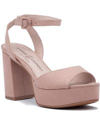 Chinese Laundry - Theresa Sandal Pink Microsuede - Lyst