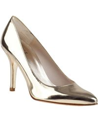 Stuart Weitzman - Power Pump Pale Gold Leather - Lyst