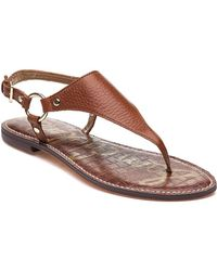 Sam Edelman - Greta Sandal Saddle Leather - Lyst