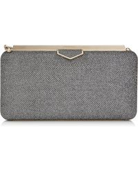 Jimmy Choo - Ellipse Anthracite Lam Glitter Clutch Bag Anthracite One Size - Lyst