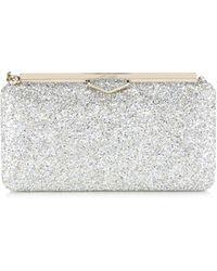 c1ff20a7028 Jimmy Choo Erica Champagne Glitter Leather Clutch Bag in Metallic - Save 7%  - Lyst