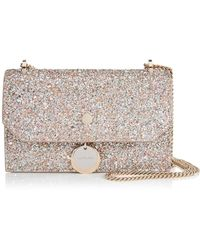 c96d607ff8912b Jimmy Choo Black And White Finley Logo Cotton And Leather Clutch in ...