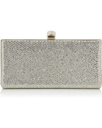 5ee58ae2e02 Judith Leiber Crystal Slidelock Clutch Bag Champagne in Red - Lyst