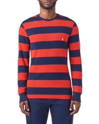 Polo Ralph Lauren - Long Sleeve Rugby Stripe Crew Thermal - Lyst