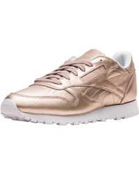 Reebok Classic Leather Pearlised in Pink - Lyst 8b33022cd