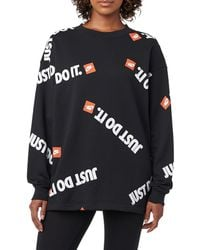 Nike - Jdi Crew With Fleece Aop - Lyst