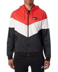 Nike - Sportswear Windrunner Hooded Track Jacket University Red/ Summit White/ Black - Lyst