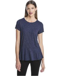 Joe Fresh - Metallic Peplum Tee - Lyst