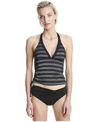 Joe Fresh - Stripe Halter Tankini Top - Lyst