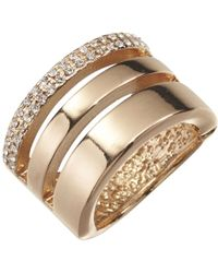 Joe Fresh | Gold Tone Stacked Ring | Lyst