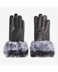 Joe Fresh - Faux Fur Leather Gloves - Lyst