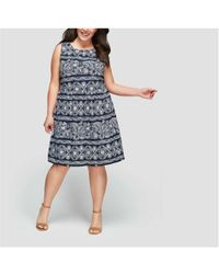 Joe Fresh - Women+ Print Sleeveless Dress - Lyst