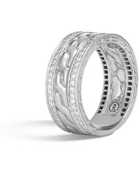 John Hardy - Classic Chain Band Ring With Diamonds - Lyst