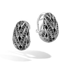 John Hardy - Buddha Belly Earring With Black Sapphire, Black Spinel - Lyst