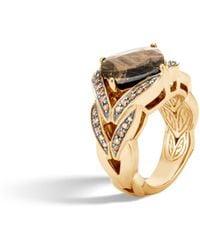 John Hardy - Magic Cut Ring With Golden Sheen Sapphire, Champagne Dia - Lyst