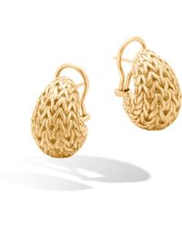 John Hardy | Classic Chain Graduated Buddha Belly Earrings | Lyst