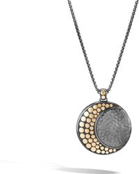 John Hardy - Moon Phase Hammered Pendant Necklace - Lyst