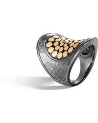 John Hardy - Hammered Saddle Ring - Lyst