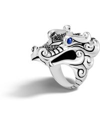 John Hardy | Naga Ring With Black Sapphire, Black Spinel | Lyst