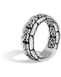 John Hardy - Men's Classic Chain 8mm Silver Band Ring - Lyst