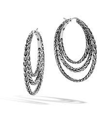 John Hardy - Classic Chain Medium Hoop Earring - Lyst