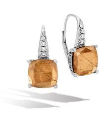 John Hardy | Magic Cut Drop Earring, Golden Sheen Sapphire, Diamonds | Lyst