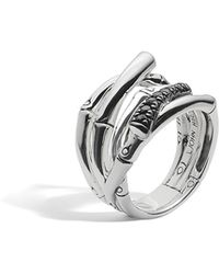 John Hardy | Bamboo Ring With Black Sapphire | Lyst