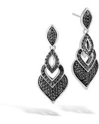 John Hardy Naga Drop Earrings w/ Black Spinel NEy5m