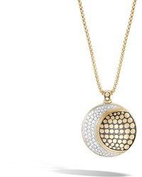 John Hardy - Moon Phase Pendant Necklace With Diamonds - Lyst