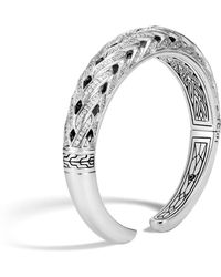 John Hardy - Classic Chain Graduated Kick Cuff With Diamonds - Lyst
