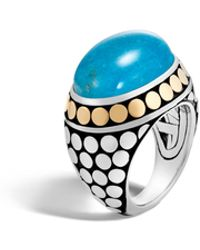 John Hardy - Dome Ring With Turquoise - Lyst