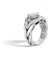 John Hardy - Magic Cut Ring, Silver Sapphire And Diamonds - Lyst