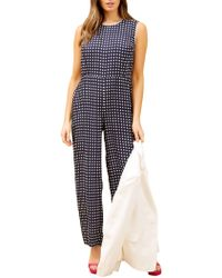 9f287820c6f Fenn Wright Manson Zara Sequin Jumpsuit in Blue - Lyst