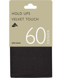 John Lewis - 60 Denier Velvet Touch Hold Ups - Lyst