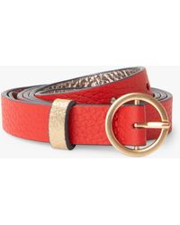Boden - Leather Skinny Belt - Lyst