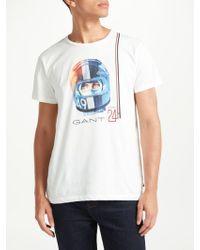 GANT - Le Mans Driver Graphic T-shirt - Lyst