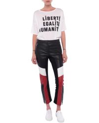 French Connection - Evia Leather Biker Trousers - Lyst